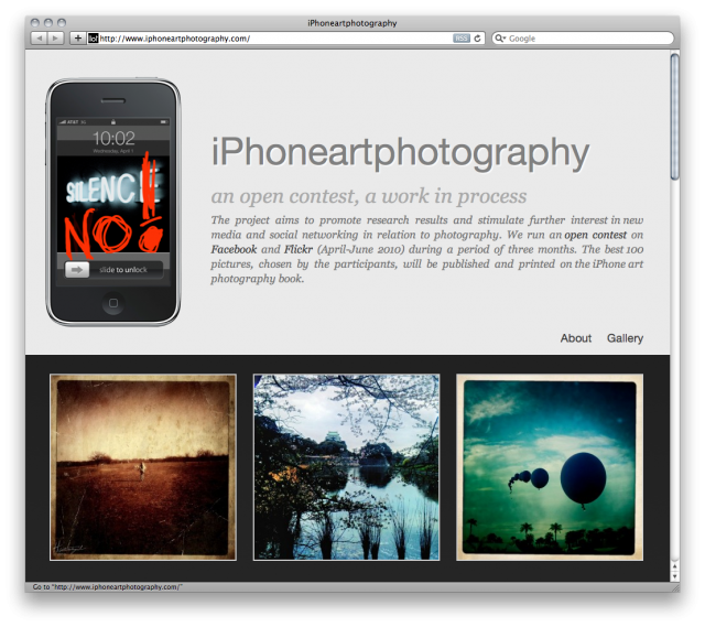iphone art photography website